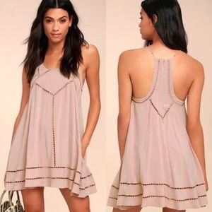 Lulu's Embroidered Swing Dress